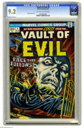 Bronze Age (1970-1979):Horror, Vault of Evil #4 (Marvel, 1973) CGC NM- 9.2 Off-white to whitepages. Frank Brunner cover. Overstreet 2005 NM- 9.2 value = $...