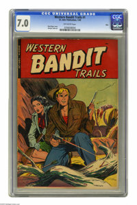 Western Bandit Trails #1 (St. John, 1949) CGC FN/VF 7.0 Off-white pages. Matt Baker cover. George Tuska art. Overstreet...