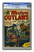 Golden Age (1938-1955):Western, Western Outlaws and Sheriffs #72 Aurora pedigree (Marvel, 1952) CGC VF- 7.5 Cream to off-white pages. Joe Maneely cover. Jac...