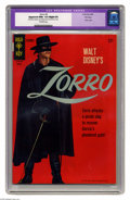 """Silver Age (1956-1969):Adventure, Zorro #3 File Copy (Gold Key, 1966) CGC Apparent NM+ 9.6 Slight (P) Off-white pages. Photo cover. CGC notes, """"Restoration in..."""