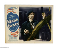 """The Adventures of Mark Twain (Warner Brothers, 1944) Lobby Card (11"""" X 14""""). This is a vintage, theater used p..."""