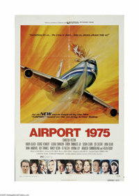"Airport 1975 (Universal, 1974) One Sheet (27"" X 41""). This is a vintage, theater used poster for this disaster..."