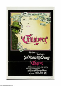 """Chinatown (Paramount, 1974) One Sheet (27"""" X 41""""). This is a vintage, theater used poster for this crime/myste..."""