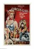 "Movie Posters:Adventure, Circus Girl (Republic, 1956) One Sheet (27"" X 41""). This is avintage, theater used poster for this circus adventure that wa..."