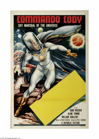 """Commando Cody (Republic, 1953) One Sheet (27"""" X 41""""). This is a vintage, theater used poster for this sci-fi s..."""