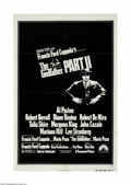 "Movie Posters:Crime, The Godfather Part II (Paramount, 1974) One Sheet (27"" X 41""). Thisis a vintage, theater used poster for this crime drama t..."