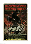 """Movie Posters:Science Fiction, Gorgo (MGM, 1961) One Sheet (27"""" X 41""""). This is a vintage, theaterused poster for this lizard-monster movie that was direc..."""