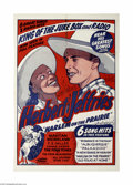 "Movie Posters:Musical, Harlem on the Prairie (Associated Features, 1937) One Sheet (27"" X 41""). This is a vintage, theater used poster for this wes..."