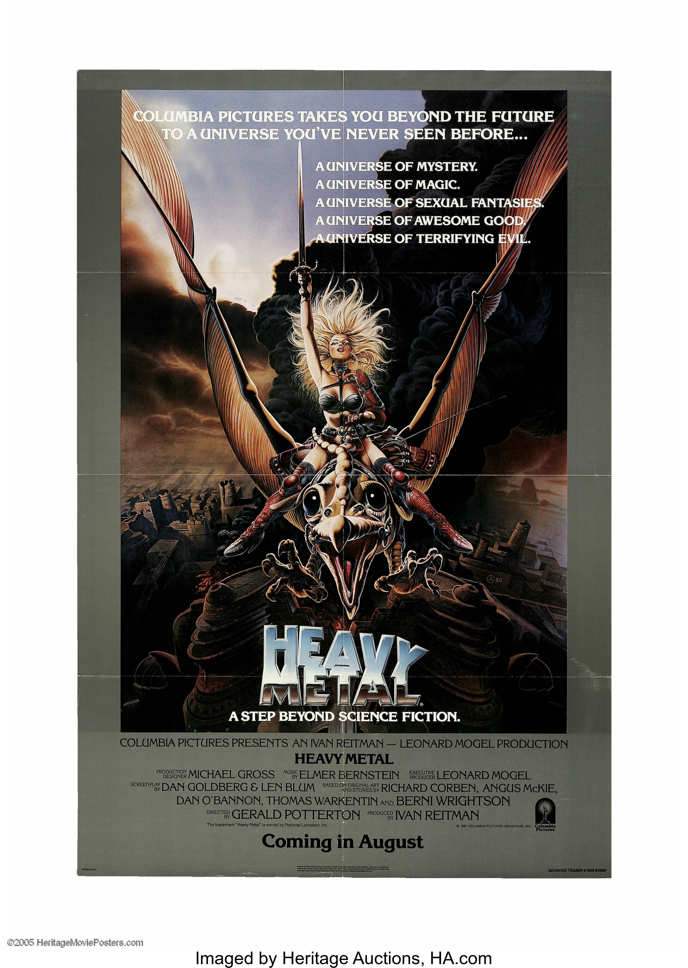 Heavy Metal Columbia 1981 One Sheet 27 X 41 This Is A Lot 14101 Heritage Auctions