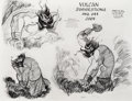 animation art:Model Sheet, Fantasia Vulcan Studio Model Sheet (Walt Disney, 1940). ...