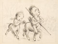 Animation Art:Concept Art, Fantasia Young Centaurette and Centaur Concept Drawing (WaltDisney, 1940)....