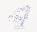 Animation Art:Production Drawing, Peanuts - It's a Mystery, Charlie Brown Snoopy AnimationDrawing Signed by Bill Melendez (Bill Melendez, 1974). ...
