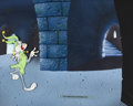 Animation Art:Production Cel, Knighty Knight Bugs Bugs Bunny Production Cel and Custom Background (Warner Brothers, 1958). ...