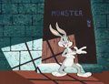 Animation Art:Production Cel, Hare-Raising Hare Bugs Bunny Production Cel and CustomBackground (Warner Brothers, 1946).... (Total: 2 )