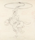 Animation Art:Production Drawing, Melody Time Pecos Bill Animation Drawing (Walt Disney, 1948)....