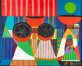 """Animation Art:Production Drawing, Mary Blair """"Peruvian Hat Woman"""" Painting (c. 1970s)...."""
