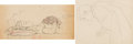 Animation Art:Production Drawing, Snow White and the Seven Dwarfs The Prince and Snow WhiteAnimation Drawings Group of 2 (Walt Disney, 1937)....