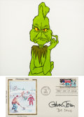 Animation Art:Color Model, Dr. Seuss' How The Grinch Stole Christmas Grinch Color Model Cel with Dr. Seuss and Chuck Jones Autographs (MGM, 1966)...