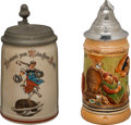 Antiques:Antiquities, Lot of Two German Beer Steins.... (Total: 2 Items)