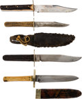 Edged Weapons:Knives, Lot of Four Clip-Point Frontier Knives.... (Total: 4 Items)