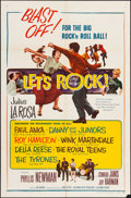 "Movie Posters:Rock and Roll, Let's Rock (Columbia, 1958). One Sheet (27"" X 41""). Rock and Roll.. ..."