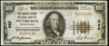 National Bank Notes:Pennsylvania, Pittsburgh, PA - $100 1929 Ty. 1 The Farmers Deposit NB Ch. # 685 Fine-Very Fine.. ...