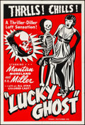 "Movie Posters:Black Films, Lucky Ghost (Toddy Pictures, R-1943). Silk Screen One Sheet (28"" X41""). Black Films.. ..."