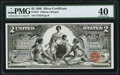 Large Size:Silver Certificates, Fr. 247 $2 1896 Silver Certificate PMG Extremely Fine 40.. ...