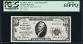 National Bank Notes:Pennsylvania, Selins Grove, PA - $10 1929 Ty. 1 The First NB Ch. # 357 PCGS Gem New 65PPQ.. ...