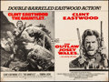 "Movie Posters:Action, The Gauntlet/The Outlaw Josey Wales Combo (Warner Brothers, 1977).Folded, Fine+. British Quad (30"" X 40""). Frank Frazetta &..."