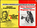 "Movie Posters:Western, The Outlaw Josey Wales/Magnum Force Combo (Warner Brothers,R-1970s). Folded, Fine+. British Quad (30"" X 40""). Western.. ..."