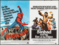 """Movie Posters:Action, Spider-Man/Sinbad and the Eye of the Tiger Combo (Columbia, 1977). British Quad (30"""" X 40""""). Action.. ..."""