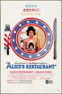 """Alice's Restaurant (United Artists, 1969). One Sheet (27"""" X 41""""). Comedy"""