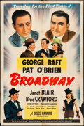"Movie Posters:Musical, Broadway (Universal, 1942). One Sheet (27"" X 41""). Musical.. ..."