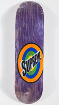 Collectible:Contemporary, Supreme . Spin (Purple), 2016. Offset lithograph in colors on skate deck. 32 x 8 inches (81.3 x 20.3 cm). Produced by Su...