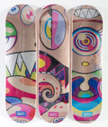 Prints & Multiples, Takashi Murakami X ComplexCon. Dobtopus (three works), 2017. Screenprints in colors on skate decks. 32 x 8 inches (81.3 ... (Total: 3 Items)