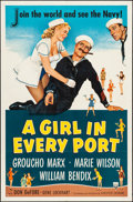 """Movie Posters:Comedy, A Girl in Every Port (RKO, 1952). One Sheet (27"""" X..."""