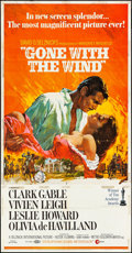 """Movie Posters:Academy Award Winners, Gone with the Wind (MGM, R-1968). Three Sheet (41""""..."""