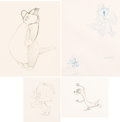 Animation Art:Production Drawing, The Art of Robert McKimson and Hawley Pratt Animation DrawingsGroup of 4 (Warner Brothers, c. 1950s-60s).... (Total: 4 OriginalArt)