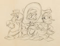 Animation Art:Production Drawing, The Three Caballeros José Carioca Panchito and Donald DuckAnimation Drawing (Walt Disney, 1944)....