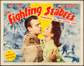 """Movie Posters:War, The Fighting Seabees (Republic, 1944). Half Sheet (22"""" X 28"""") Style A. War.. ..."""