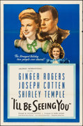 Movie Posters:Drama, I'll Be Seeing You (United Artists, 1944). One She...