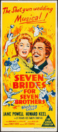 """Movie Posters:Musical, Seven Brides for Seven Brothers (MGM, 1954). Trimmed AustralianDaybill (13"""" X 30""""). Musical.. ..."""