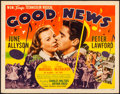 "Movie Posters:Musical, Good News (MGM, 1947). Half Sheet (22"" X 28"") Style A. Musical.. ..."