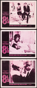 """Movie Posters:Foreign, 8½ (Embassy, 1963). Lobby Cards (3) (11"""" X 14""""). Foreign.. ... (Total: 3 Items)"""
