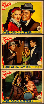 """The Gang Buster (Paramount, 1931). Lobby Cards (3) (11"""" X 14""""). From the Collection of Frank Buxton, of which..."""