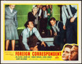 "Movie Posters:Hitchcock, Foreign Correspondent (Masterpiece Productions, R-1940s). LobbyCard (11"" X 14""). From the Collection of Frank Buxton, of..."
