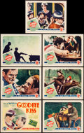 "Movie Posters:Comedy, The Good-Bye Kiss (First National, 1928). Title Card & Lobby Cards (6) (11"" X 14""). From the Collection of Frank Buxton, o... (Total: 7 Items)"
