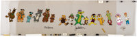Hanna-Barbera's 50th Pan Production Cel Signed by Bill Hanna and Joe Barbera (Hanna-Barbera, 1989)