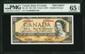 Canadian Currency, BC-42s $50 1954 Specimen PMG Gem Uncirculated 65 EPQ.. ...